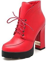 Amazon.it  Stivali rossi - VogueZone009   Stivali   Scarpe da donna ... 594b957cdae