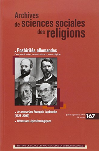 Archives de Sciences Sociales des Religions 167