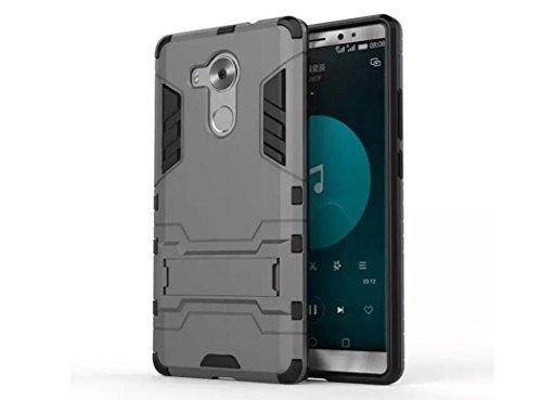 Bllosem Huawei Mate 8 Hülle Hybride Dual-Layer PC+TPU Kompletter Schutz Standfunktion Tasche für Huawei Mate 8 Grau