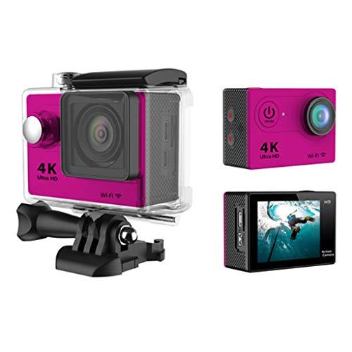 Coco H16-4 Action Camera 12MP 4K WiFi Wasserdichte Sport Cam 170 Grad Ultra Weitwinkelobjektiv mit Akku und Montage-Kit Vivitar Digital Cam
