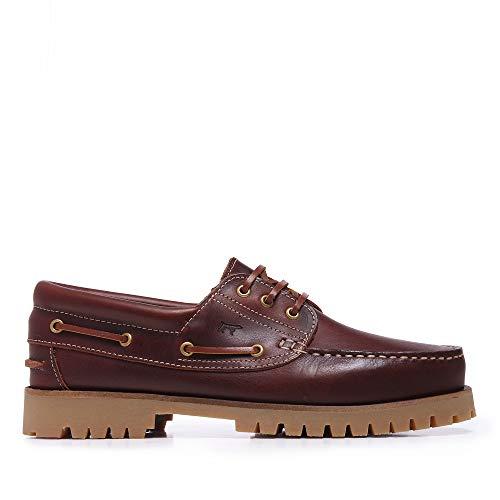 Castellanísimos Zapato Náutico Hombre Piel Marrón
