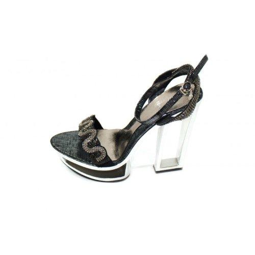 Wear & Walk UK , Damen Sandalen Schwarz schwarz