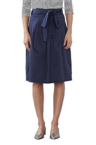ESPRIT Collection Damen Rock 027EO1D003, Blau (Navy 400), 40