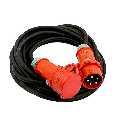 Preisvergleich Produktbild CEE Verlängerungskabel Kabel 5m 16A IP44 Starkstromkabel 5x2,5mm² MENNEKES (824)