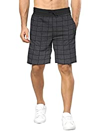 BLIVE Men's Checkered Shorts Charcoal Black