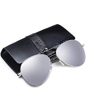 VEGOOS Gafas de sol Polarizadas Hombre Mujer Aviador de Conducción con el Caso UV 400 Protección