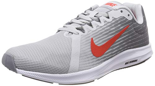 new arrival ff74f 001eb Nike Downshifter 8, Scarpe Running Uomo, Multicolore (Pure  Platinum Habanero Red