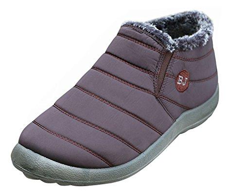 Minetom Femmes Doublé Hiver Fourrure Chaud Bottes Chaussures Hommes xxTFrn
