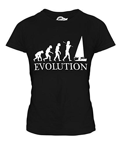 CandyMix Regattasegeln Segeln Evolution Des Menschen Damen T Shirt, Größe 3X-Large, Farbe Schwarz