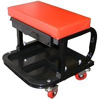 Asiento para Mecánicos – Ruedas de Maniobra – con cajón del cojinete de rodillos y bandeja para las herramientas.