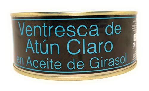 Ventresca artigianale di Tonno Bianco o conosciuto come Alalunga (ASTONA) IN OLIO DI GIRASOLE IN LATTA 900G prodotta da Salanort
