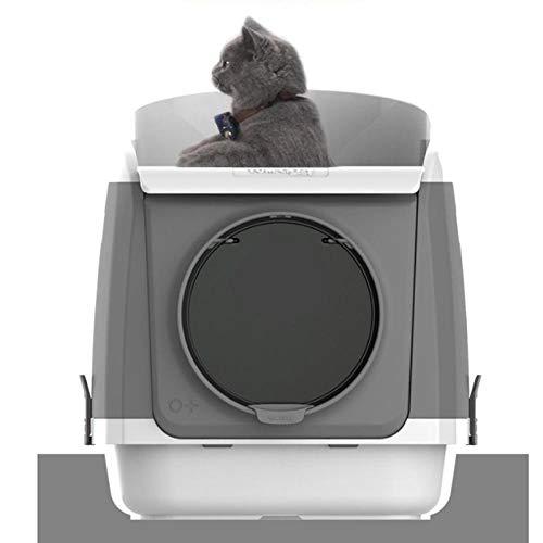MASAP Toilette per Gatti Toilette per Gatti Cassetta per rifiuti Grande Chiusa Rosa @ Blu