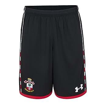 Southampton FC 16/17 Home Football Shorts - Black/White - size S