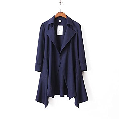CU@EY Autumn and winter wind the candy color arm sleeves rules in Europe and America windbreaker , navy , l