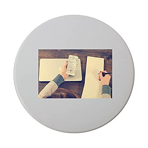 Office, Notes, Notepad, Entrepreneur ceramic round coaster