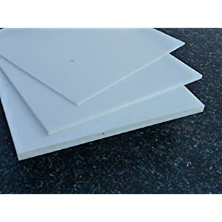Platte aus PTFE, weiß, 1200 x 50 x 1,5 mm (Teflon) Zuschnitt PTFE Dichtung