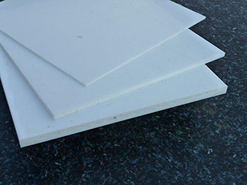Platte aus PTFE, weiß, 295 x 295 x 0,5 mm (Teflon) Zuschnitt PTFE Dichtung 0.5-platte