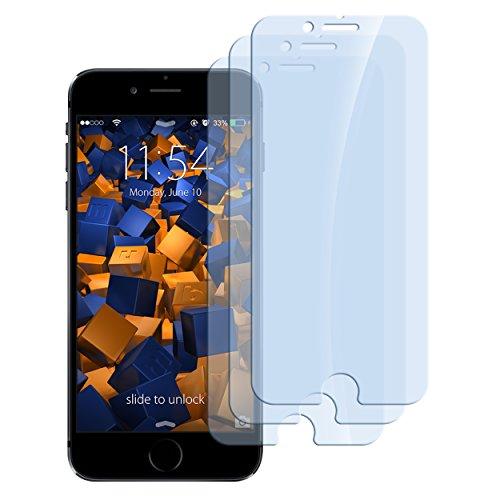 mumbi 3 x Panzerfolie für iPhone 6 / iPhone 6S Glasfolie Hartglas 9H (bewusst Kleiner als das Display, da Dieses gewölbt ist)