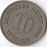 Deutsches Reich Jägernr: 13 1904 D sehr schön Kupfer-Nickel sehr schön 1904 10 Pfennig Großer Reichsadler (Münzen für Sammler)