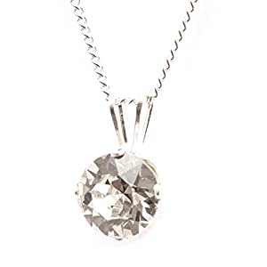 SILVER PENDANT MADE WITH SPARKLING SWAROVSKI CRYSTAL. HIGH QUALITY. LOW PRICES.