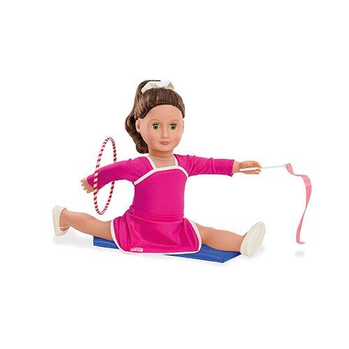 Our Generation BD30244 - OG - Gymnastikdress mit Hula-Hoop Outfit