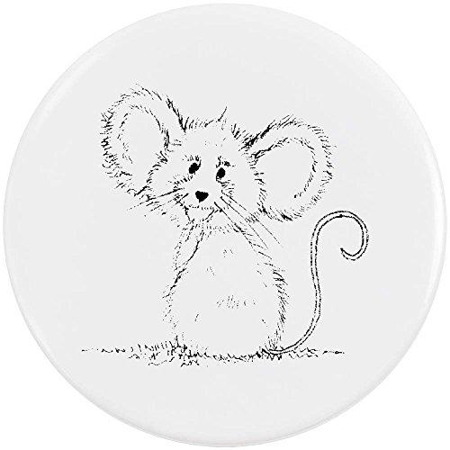 Azeeda 58mm 'Fröhliche Maus' Pin Knopf-Abzeichen (BB00000526) (Und Abzeichen Knöpfe)