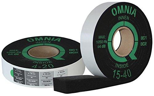 greenteQ Fensterdichtband OMNIA BG1 4-20 mm 63 mm Breit Innen und Außen Dichtband Kompriband