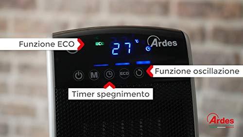 Zoom IMG-3 ardes ar4p11d termoventilatore ceramico ptc