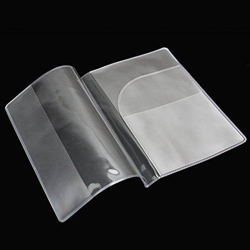 Beautylife & # x24c7; 2x fashion trasparenti porta passaporto copertura custodia da viaggio portafoglio protector cartella