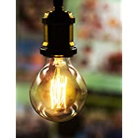 Sister-A Vintage Light Bulbs Filament Light Bulbs Edison bulbs G80 E27 40W Dimmable Squirrel Cage Filament Edison Light Bulb for Restaurant Home Office Light Fixtures Decorative Yellow Color (G80S)