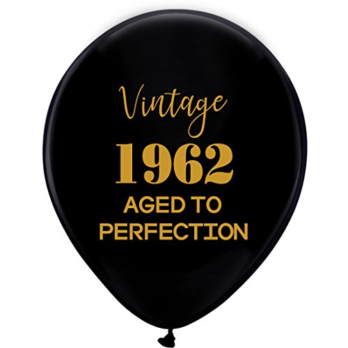 Luftballons - 30,5 cm (16) Damen und Herren Gold 56TH Geburtstag Party Dekorationen oder Supplies ()