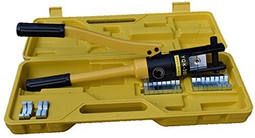 Hydraulische Crimpzange, Presszange 16-300 mm² Kabelschuhe Zange, 360°  Drehbarer, 12T