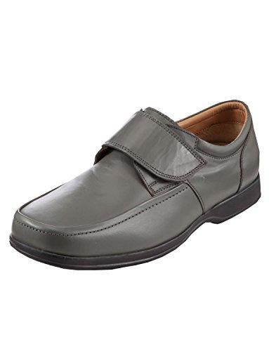Hommes Velcro Large/Deep Montage Chaussures De Style Classique Gris