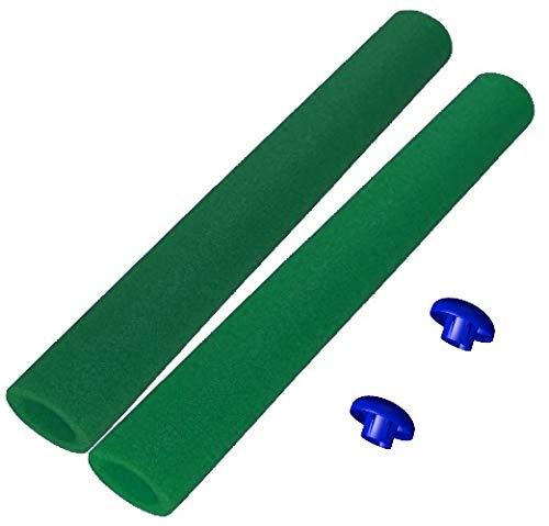 awshop24 12x Trampolin Schaumstoff dunkelgrün 82 cm für 6 Stangen
