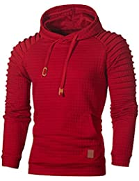 9122a82490ce5 LEvifun Homme Sweat à Capuche Hommes Skull Hooded Swag Manches Longues  Masque Moelleux Sweatshirt Sport Pullover