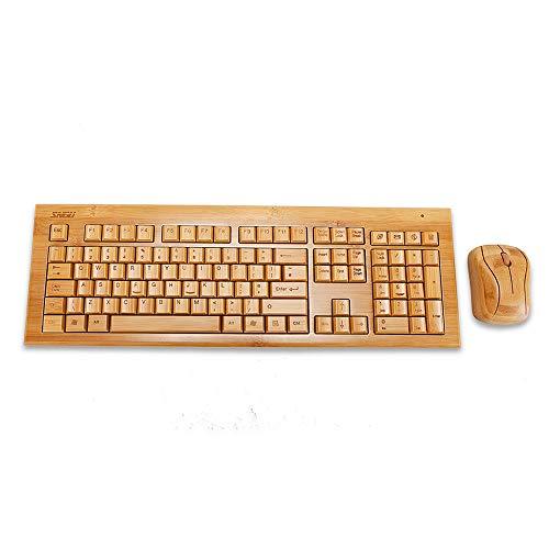 Sengu sg-kg308-n + mg93-n 2,4gHz Full hecho a mano de bambú teclado inalámbrico y ratón Combo (versión del Reino Unido)