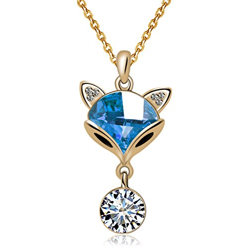 Collane fashion cristallo Fox/Brevi pendenti/ catena di osso di collare decorativo-A