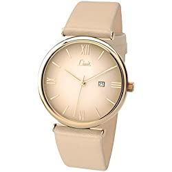Limit Women's Quartz Watch with Beige Dial Analogue Display and Cream Polyurethane Strap 6124.01
