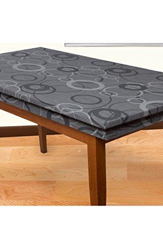 Bed store - joker copritavolo tovaglia grigio topo per 12 millerighe elasticizzato cerchio 90x180cm