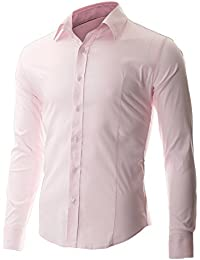 FLATSEVEN Chemise Casual Col Boutonné Homme