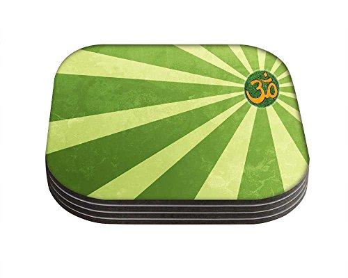 Snoogg OM Religion Quadrat Tisch 4Stück Untersetzer/Tisch und Küche Zubehör-Set für Getränke Set quadratisch, 4Stück handgefertigt Untersetzern aus Holz