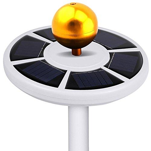 Comtervi 26LEDs Solar Flagpole Light/Solar Fahnenmast/Fahnenstange Licht/Wasserdicht Strahler für die Meisten 15-25ft Flag Pole für Nacht Beleuchtung