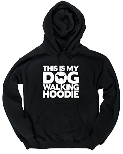 Hippowarehouse This is My Dog Walking Hoodie Unisex Hoodie Hooded top (Specific Size Guide in Description)