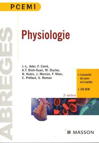 Physiologie: Pour prparer l'UE 2, l'UE 3a et l'UE 3b