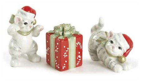 Fitz and Floyd Kitty Kringle Tumblers by Fitz and Floyd Floyd Kitty