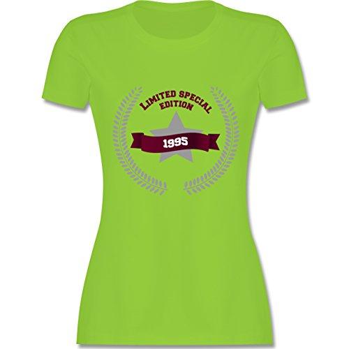 Geburtstag - 1995 Limited Edition - tailliertes Premium T-Shirt mit Rundhalsausschnitt für Damen Hellgrün