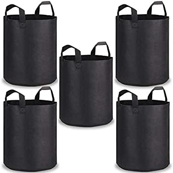 Grow Bags for Vegetables iBayx Potato Growing Bags 7 Gallons Breathable Nonwoven Fabric Planter Container Plant Bags with Velcro Window and Strap Handles 2 pack