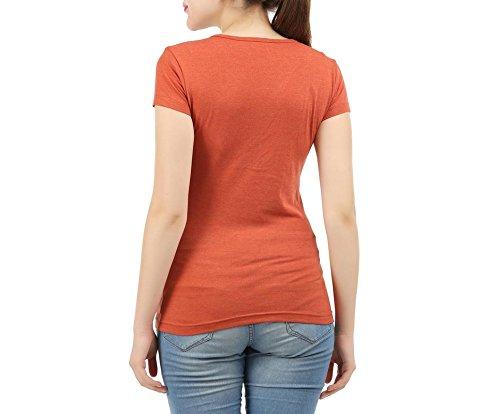 Clifton T-Shirt - Femme Rust Melange