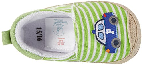 Sterntaler - Baby-espandrilles, Scarpine e pantofole primi passi Bimbo 0-24 Grün (Sommergrün)