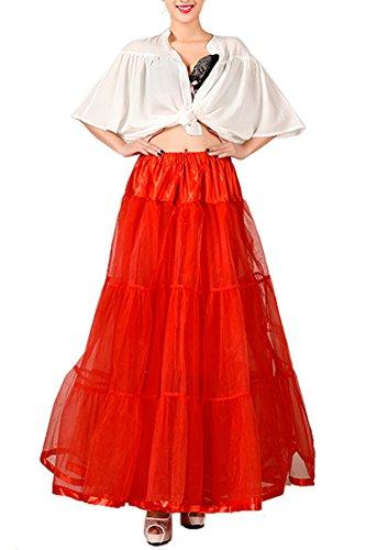 Donna Gonne Tutu Petticoat Crinolina Sottogonna Red